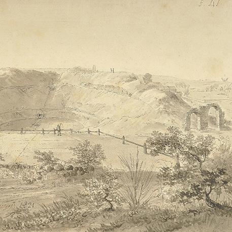 Les premières fouilles : la découverte de l'amphithéâtre 1820-1823