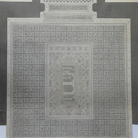 Henri Poulain, La mosaïque de Grand, 4e quart XIXe siècle © MUDAAC Épinal, cliché Conseil départemental des Vosges-JL