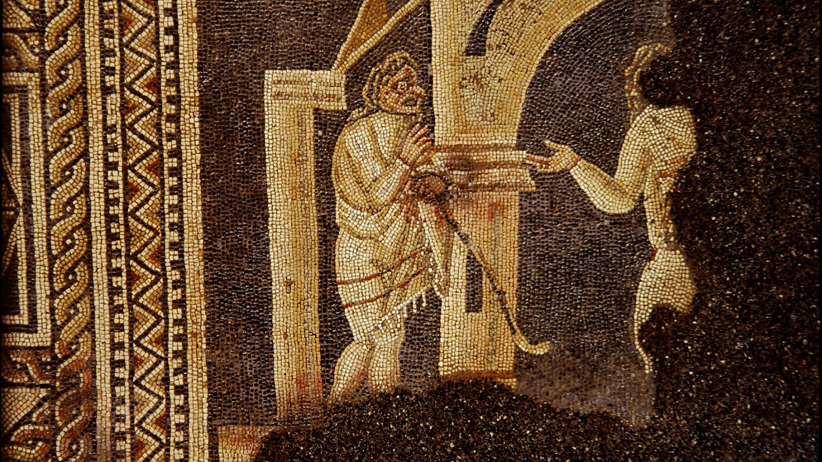 Mosaïque détail du panneau central