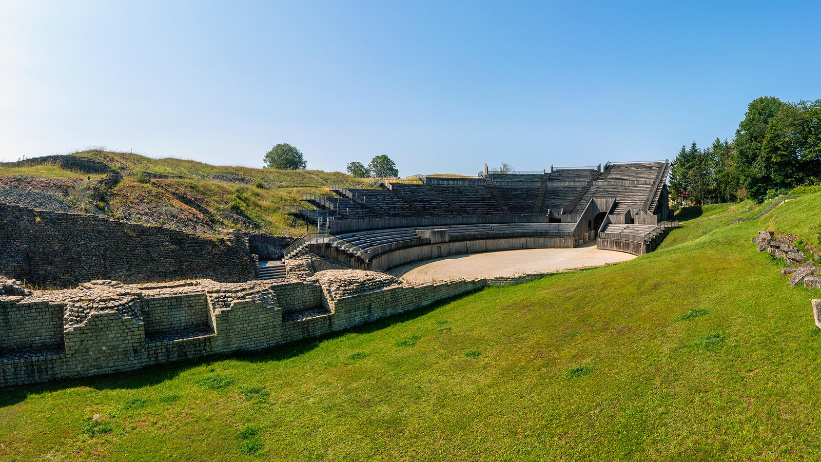 Vue sur l'amphithéâtre